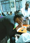 Photo showing how to use Arclight during a dissemination workshop to regional eyecare coordinators.
